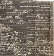 Cruz Rubi - Death Certificate 1919