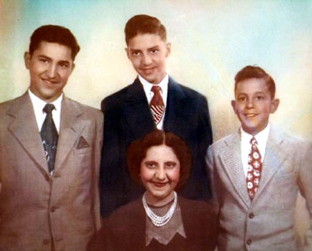 Ventura (Betty) Rubi and Her Sons, Paul, Vernon, and Voyle