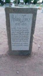 Antonio Lopez - Grave stone, 1913 Holbrook, Arizona Cemetery