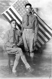 Benito Rubi (sitting) and Unknown Soldier - WWI