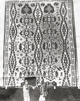 Hubbell Rug - Roman Hubbell and Unknown Man